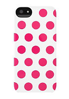 INCASE iPhone 5 Dot Snap Case white/pink