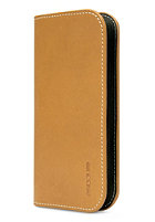 INCASE Leather Wallet for iPhone 5S & 5C brown/tan