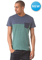 IRIEDAILY Block Pocket S/S T-Shirt green blue