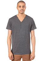 IRIEDAILY Clerk V-Neck S/S T-Shirt anthra mel.