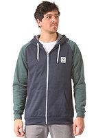 IRIEDAILY De College Hooded Zip Sweat green blue