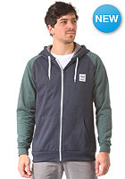 IRIEDAILY De College Hooded Zip Sweat green blue