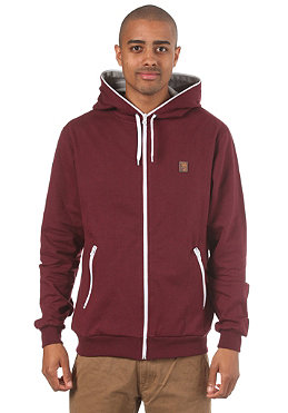 IRIEDAILY Desire Hooded Zip Sweat maroon melange