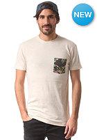 IRIEDAILY Fuck War Pocket S/S T-Shirt ecru mel.
