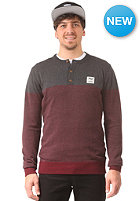 IRIEDAILY Henley Ringel Knit Sweat anthra mel.