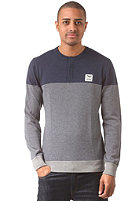 IRIEDAILY Henley Ringel Knit Sweat navy mel.