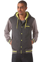 IRIEDAILY Irie2 College Hooded Zip Sweat charc mel.