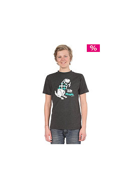 IRIEDAILY Kids Beaver 2 S/S T-Shirt anthracite melange