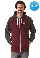 IRIEDAILY Rugged Hooded Zip Sweat anthra red