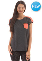 IRIEDAILY Womens 2Tone Pocket S/S T-Shirt anthra mel.
