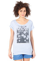 IRIEDAILY Womens Cotton Flower S/S T-Shirt light blue mel.