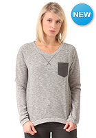 Womens Cushy Pocket Crew Sweat stripe black