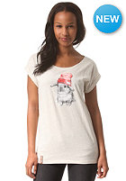 IRIEDAILY Womens It Hasi S/S T-Shirt ecru mel.