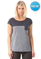 IRIEDAILY Womens Ringel Pocket S/S T-Shirt navy