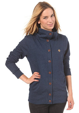 IRIEDAILY Womens Snugly Button Trainer Sweatshirt night sky
