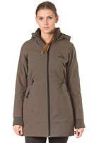 IRIEDAILY Womens Youriko Nylon Coat dark olive