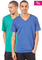 K1X Double Impact V-Neck S/S Tee true blue/ultramarine green