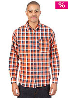 K1X League Check Flannel Shirt navy/flame/egret
