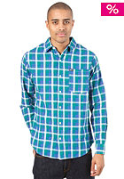 K1X League Check Flannel Shirt ultramarine green/true blue/white