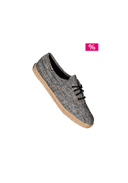 KEDS Womens Champion CVO jute chambray black
