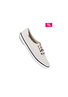 KEDS Womens Champion CVO Seersucker white/tan