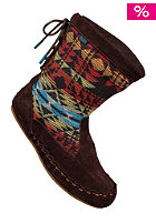 KEDS Womens Dreamcatcher Boot Suede/Blanket Striipe coffee bean