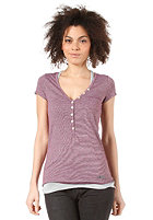 KHUJO Womens Anesse S/S T-Shirt berry stripe