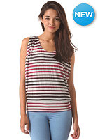 KHUJO Womens Aure Top black/wine stripe