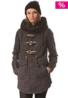 KHUJO Womens Havanna Fake Lthr Mix Jacket charcoal
