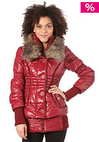 KHUJO Womens Iff Jacket wine red