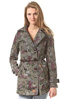 KHUJO Womens Isy with Belt (FLP) olive flower print