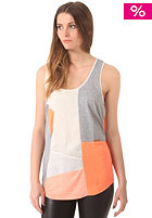 KHUJO Womens Rhin Top light orange/offwhite