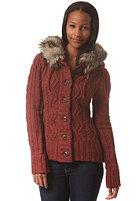 KHUJO Womens Sparrow Cardigan stone red