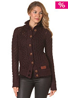 KHUJO Womens Trush Knit Jacket wine/grey melange