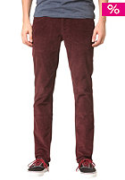 KR3W K Slim 5 Pocket Pant burgundy