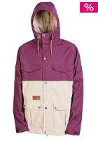 L1 Folklore Jacket maroon/dark khaki