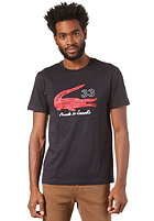 LACOSTE S/S T-Shirt eclipse blue/cherry red-white