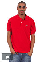 LACOSTE Uni S/S Polo Shirt red