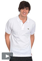 LACOSTE Uni S/S Polo Shirt white