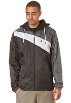 LAKEVILLE MOUNTAIN Asymmetric Premium Ripstop Windbreaker black/white/dark grey