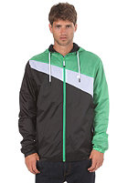 LAKEVILLE MOUNTAIN Asymmetric Premium Ripstop Windbreaker black/white/green