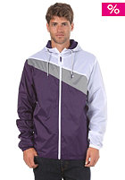 LAKEVILLE MOUNTAIN Asymmetric Premium Ripstop Windbreaker purple/grey/white