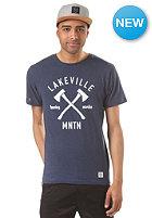 LAKEVILLE MOUNTAIN AX Logo navy heather/white