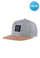 LAKEVILLE MOUNTAIN AX Logo Snapback Cap grey heather/brown