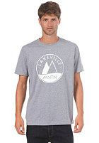 LAKEVILLE MOUNTAIN Basic Logo 1.0 S/S T-Shirt heather grey/white