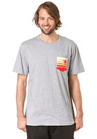 LAKEVILLE MOUNTAIN Beach Life Pocket S/S T-Shirt grey heather/orange