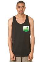 LAKEVILLE MOUNTAIN Beach Life Pocket Tank Top black/palms kelly