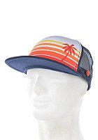 Beach Life Trucker Cap navy/palms orange/red