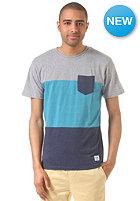 LAKEVILLE MOUNTAIN Colorblock Pocket S/S T-Shirt grey heather/aqua heather/navy heather