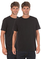 LAKEVILLE MOUNTAIN Double Pack Round Neck S/S T-Shirt black
